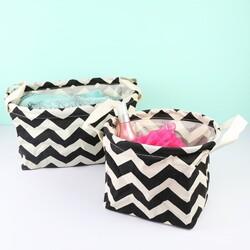 Set of Monochrome Chevron Baskets