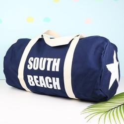 South Beach Navy Canvas Duffel Bag