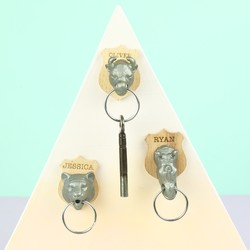 Personalised Suck UK Animal Head Key Holder