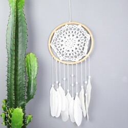 White Crochet Dreamcatcher