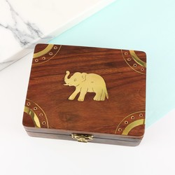 Wooden Elephant Box