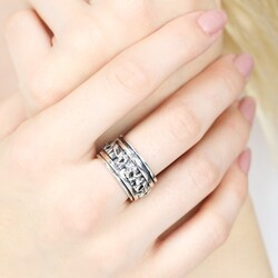 Sterling Silver Elephant Spinning Ring