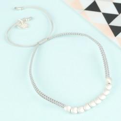 Silver Hearts Friendship Bracelet