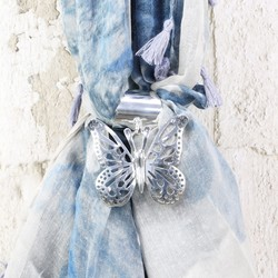 Silver Butterfly Scarf Ring