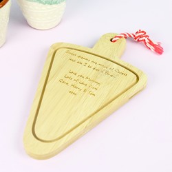 Personalised Temerity Jones Mini Wooden Cheese Board