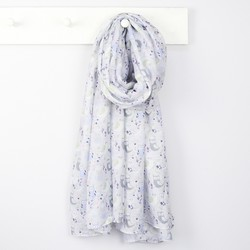 Grey Cute Owls Scarf