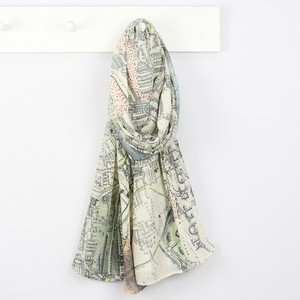 Vintage London Map Scarf