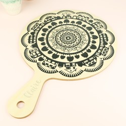 Engraved Wild and Wolf Wooden Paddle Chopping Board