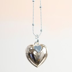 Personalised Longline 'Always My Mum' Mixed Metal Heart Necklace