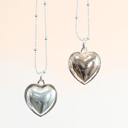 Longline 'Love is All Around You' Mixed Metal Heart Necklace