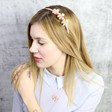 Lisa Angel Acrylic Rose Hairband in Dusky Pink