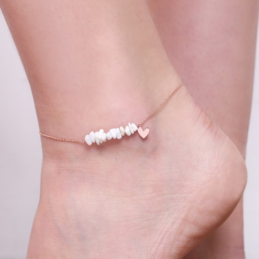 color classic elegant tengyi rose anklet steel round simple anklets foot ankle charm item full gold chain sexy