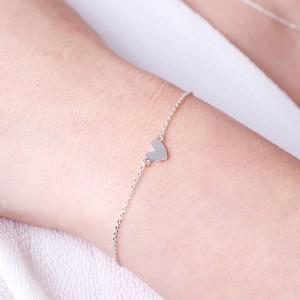 Shiny Heart Bracelet In Silver
