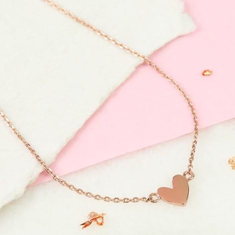 Shiny rose gold heart pendant necklace lisa angel shiny rose gold heart pendant necklace aloadofball Choice Image
