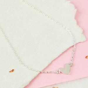 Shiny Heart Necklace In Silver