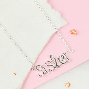Sister Necklace In silver