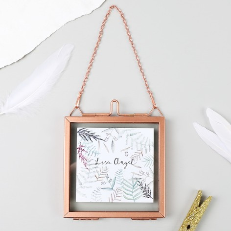 Small Square Hanging Copper Photo Frame | Lisa Angel
