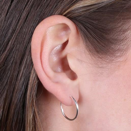 3433df65be4f Medium Sterling Silver Hoop Earrings | Lisa Angel