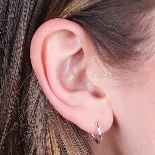 eea576cae Lisa Angel Sterling Silver Hoop Earrings. Small Sterling Silver Hoop  Earringson Model