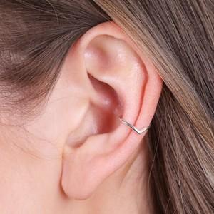 Sterling Silver Triangle Hoop Ear Cuff