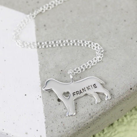Personalised sterling silver dog pendant necklace lisa angel personalised sterling silver dog pendant necklace aloadofball Choice Image