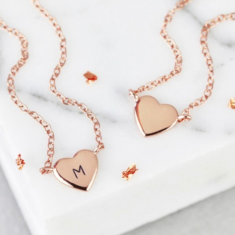 Sterling silver rose gold heart pendant necklace lisa angel sterling silver rose gold heart pendant necklace mozeypictures Choice Image