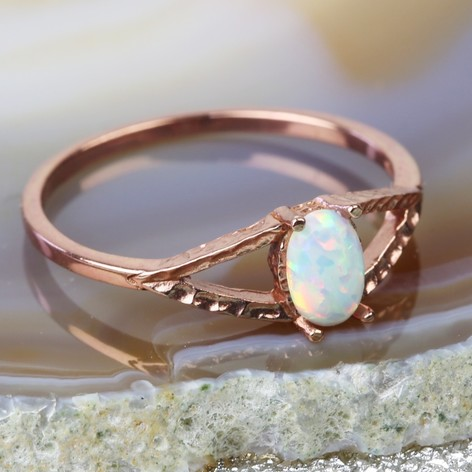 mini astley ring icon london solid gold uk opal clarke aura yellow