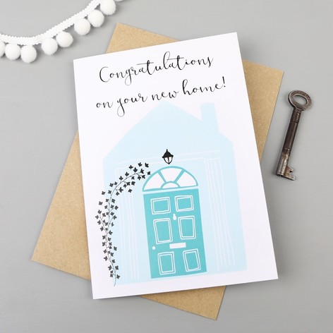 congratulations on your new home greetings card