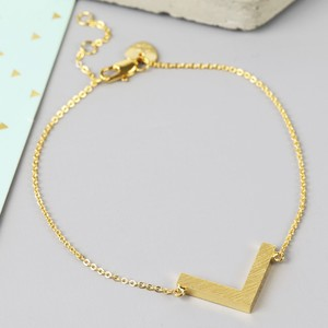 Gold Chevron Bracelet