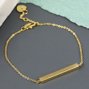 Horizontal Bar Bracelet In Gold