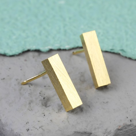 bar product gold prouds stud the rose earrings jewellers