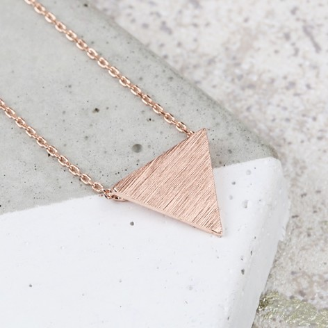 pendant and large product notonthehighstreet necklace silver by single fawn rose fawnandrose com triangle original