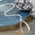 Ladies' Silver Wishbone Necklace