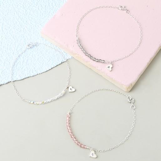 5315b3ac2110 Handmade Swarovski Crystal and Sterling Silver Chain Bracelet