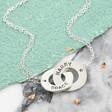 Lisa Angel Ladies' Personalised Sterling Silver Interlocking Necklace