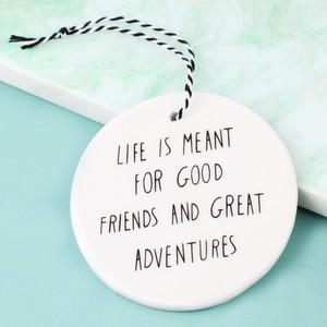 Hanging 'Great Adventures' Circle Decoration