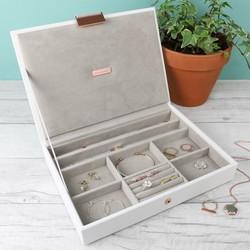 3ba6e55ca9e8 Stackers Classic Jewellery Box Lid in White
