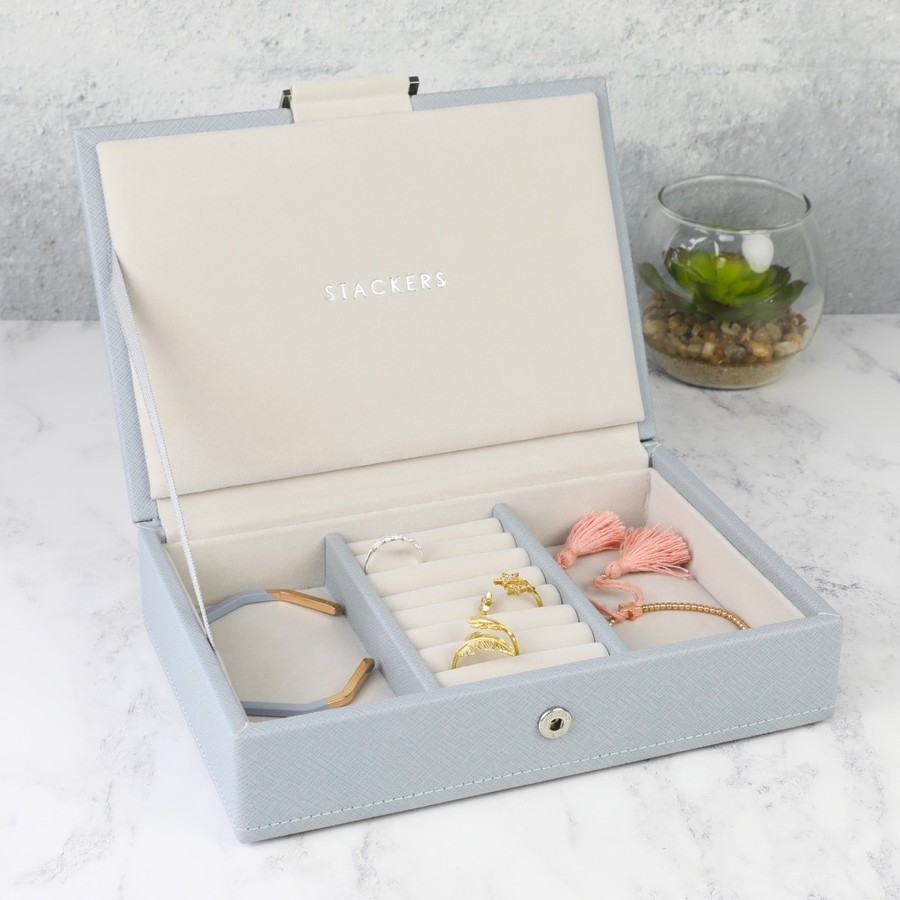 Stackers Mini Jewellery Box Lid in Blue 913fe578cd