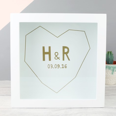 Personalised Initials Memories Box Frame | Lisa Angel