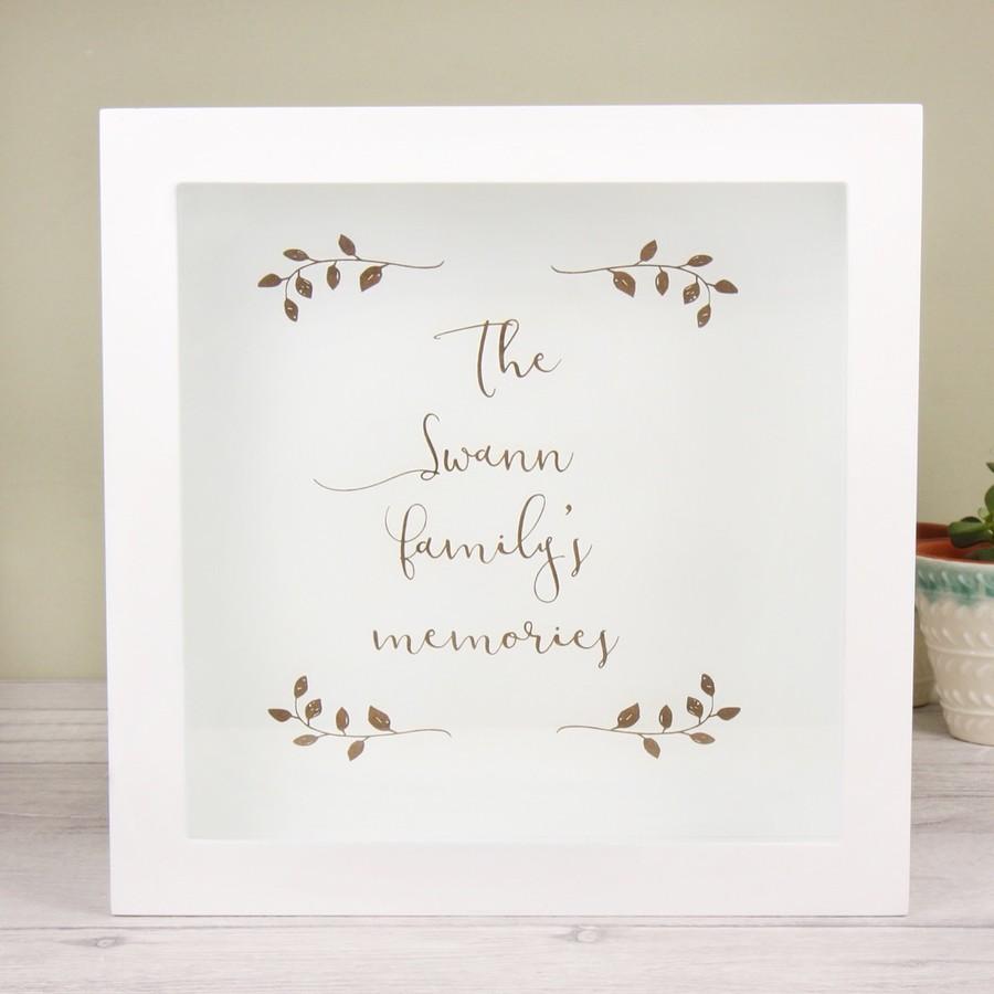 Personalised \'Family Memories\' Box Frame | Lisa Angel