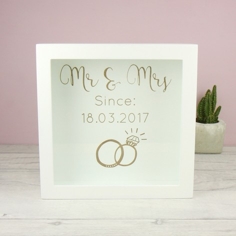 Personalised Mr Mrs Memory Box Frame Lisa Angel