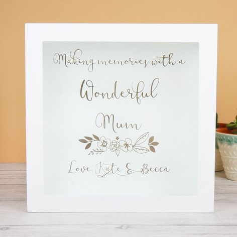 Personalised \'Wonderful Mum\' Memory Box Frame | Lisa Angel