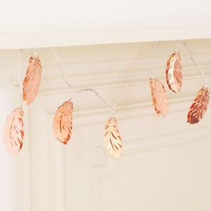 Feather String Lights - Copper