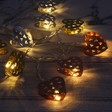 Mixed Metal Heart LED String Lights