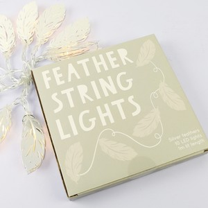 Feather String Lights - Silver