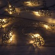 Silver Pineapple LED String Lights