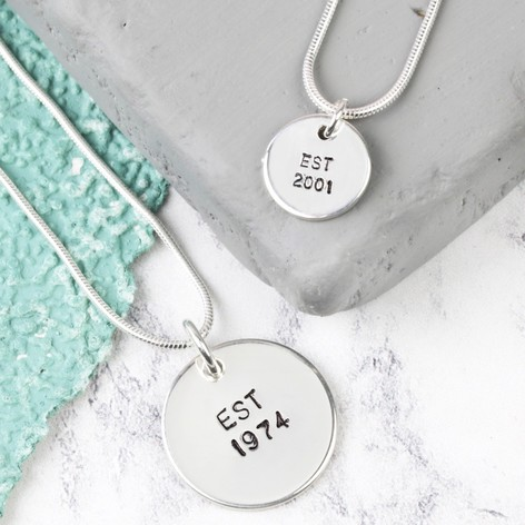 Sterling silver disc charm necklace jewellery lisa angel personalised sterling silver disc charm necklace mozeypictures Image collections