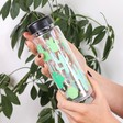 Sass & Belle Colourful Cactus Water Bottle on Model