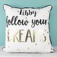 Lisa Angel Personalised Sass & Belle 'Follow Your Dreams' Metallic Cushion