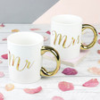 Lisa Angel with Sass & Belle Metallic Gold 'Mr' Mug